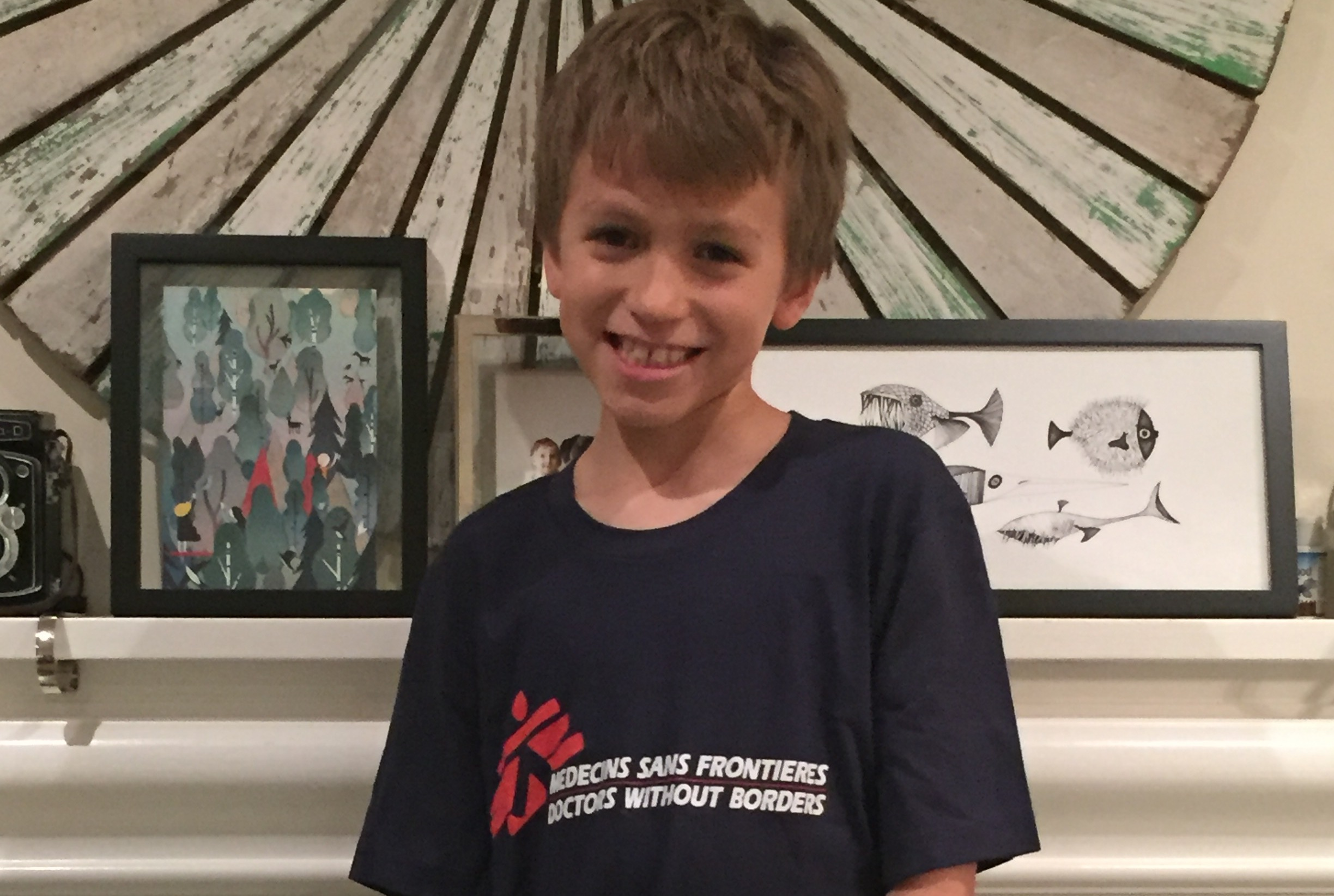 Aiden Ospina, from Brampton, Ontario, was inspired to participate in MSF Canada's Walk Without Borders 2015 Challenge after he read about the difficult journey of two MSF patients seeking medical care.