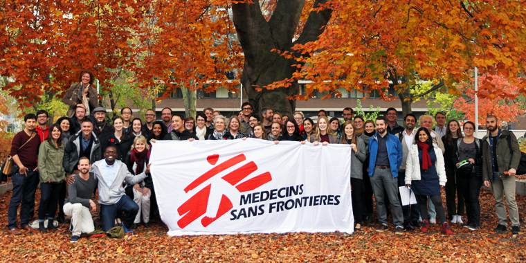 A group photo of Doctors Without Borders Canada staff members.