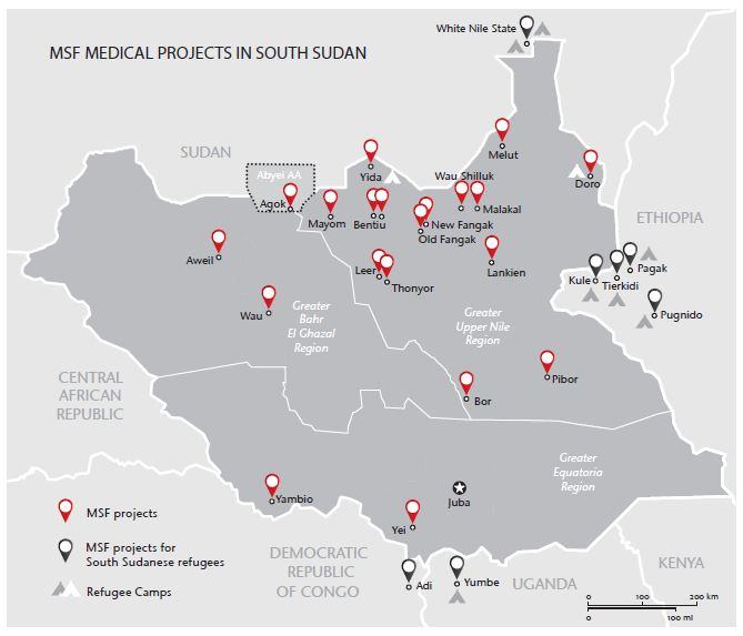MSF medical projects in South Sudan