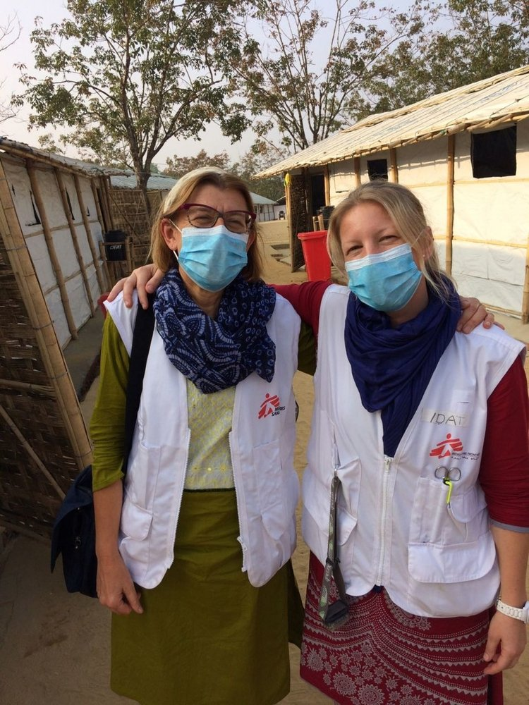 Rosie Burton, left, a British doctor based in South Africa has just returned from one month in Bangladesh, where she was working in a diphtheria treatment centre run by MSF.