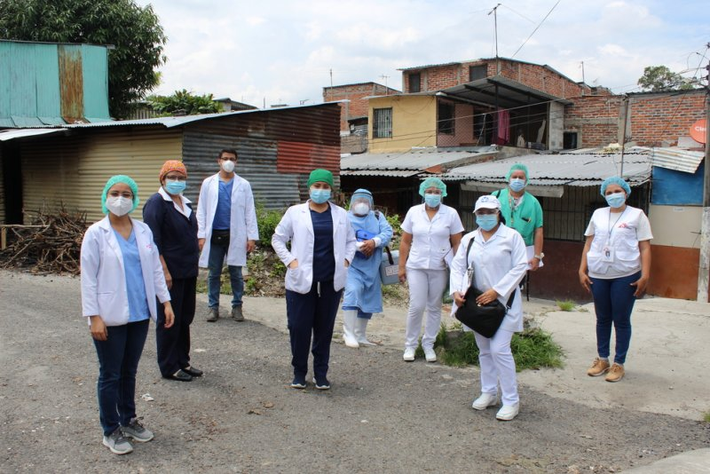 The staff of the Concepción Health Unit, Community Team and MSF