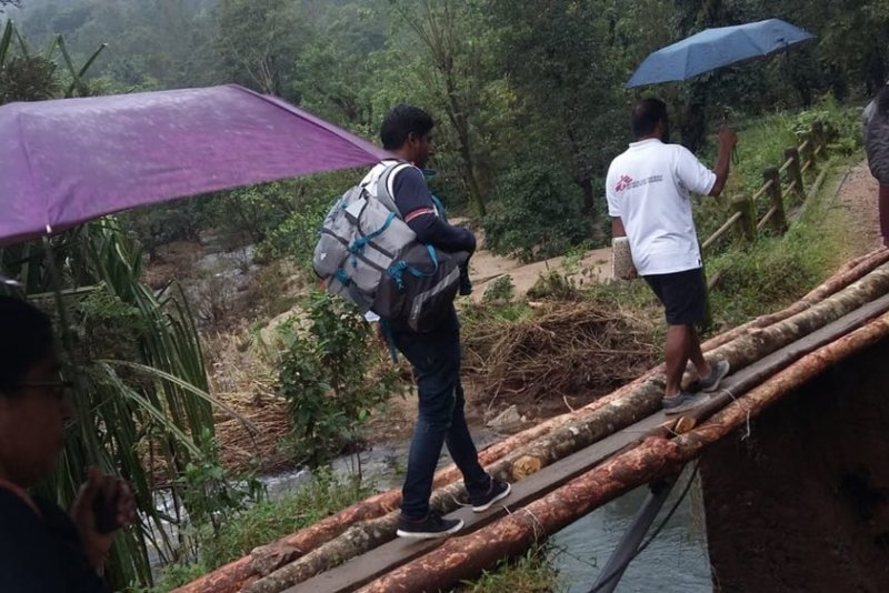 An image preview for India: Floods in Kerala displace thousands, MSF responds with care and supplies article.