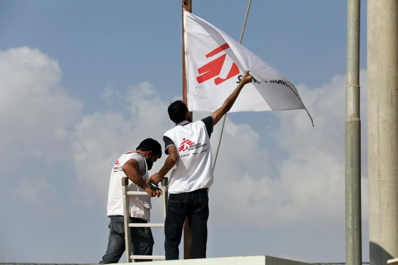 An image preview for MSF responds to COVID-19 in Jordan's largest refugee camp article.