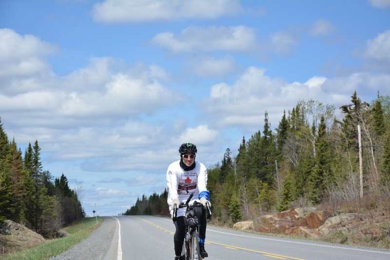 An image preview for From coast to coast for MSF: Musician bikes and sings across Canada to raise funds article.