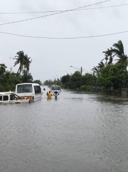 Landfall in the central province of Sofala