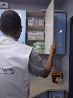 Head of nursing Department, is checking medical supplies and consumptions